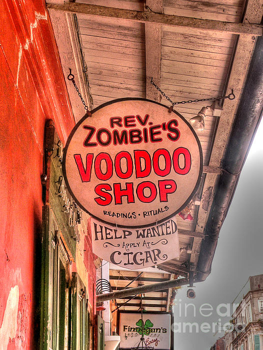 Rev. Zombie's Print by David Bearden