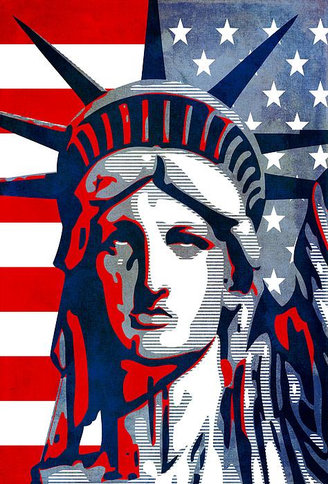Reversing Liberty 1 Print by Angelina Vick