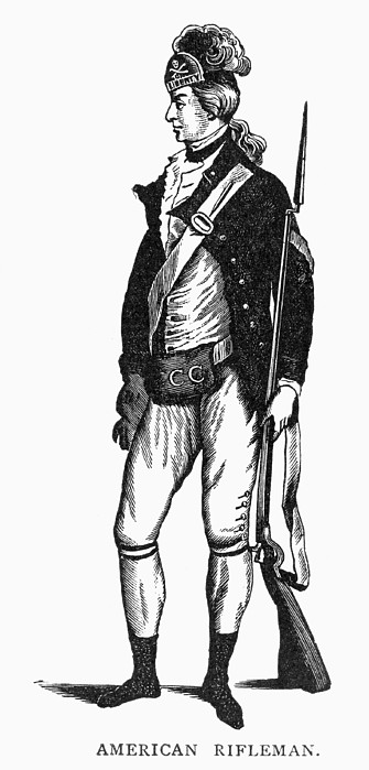 Revolutionary War Rifleman Print by Granger