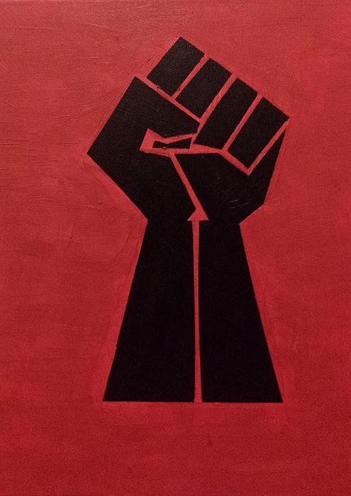 Revolutionist Fist Print by Donald Beasley
