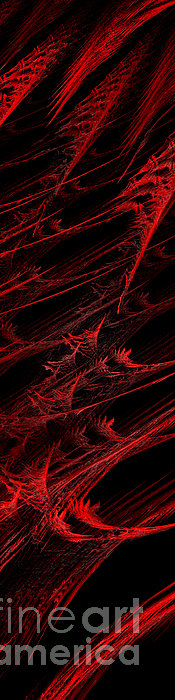 Rhapsody In Red V - Panorama - Abstract - Fractal Art Print by Andee Design