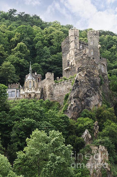 Rheinstein Castle Print by Oscar Gutierrez