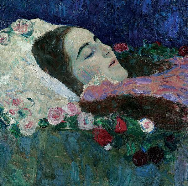 Ria Munk On Her Deathbed Print by Gustav Klimt