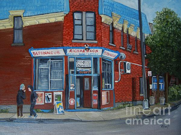 Richardson Depanneur Pointe St. Charles Print by Reb Frost