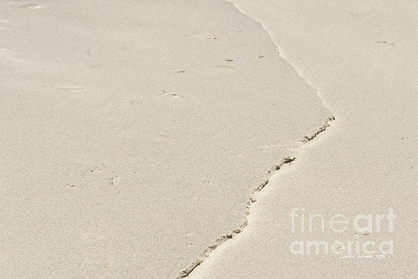 Ridge In The Sand At Big Sur Print by Artist and Photographer Laura Wrede