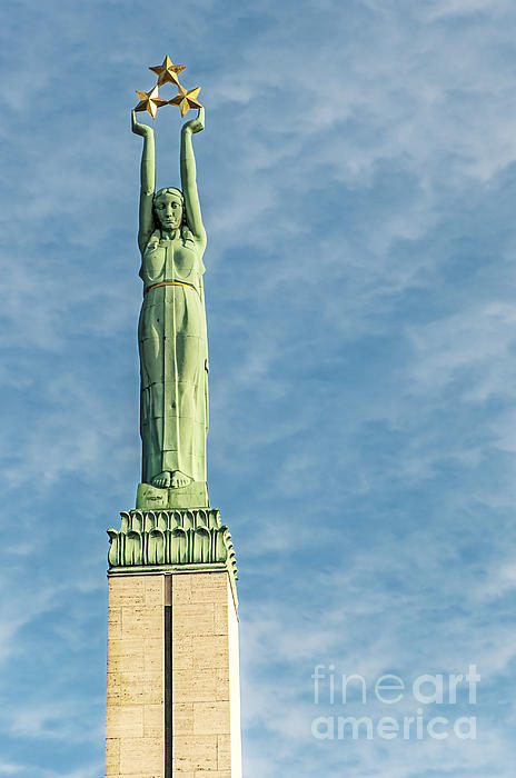 Riga Freedom Monument Print by Antony McAulay