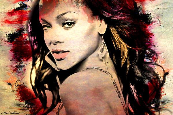 Rihanna Print by Mark Ashkenazi