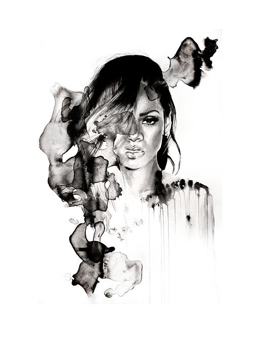 Rihanna Stay Print by Molly Picklesimer