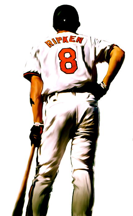 Ripken   Cal Ripken Jr Print by Iconic Images Art Gallery David Pucciarelli