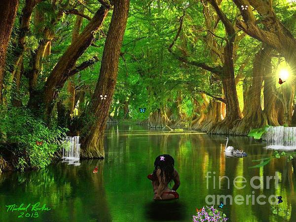 River Beauty Print by Michael Rucker