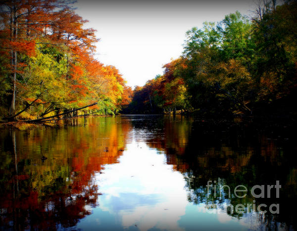 River Calm Print by Lisa Vander Ark