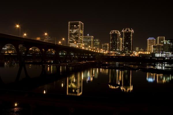 River City Lights At Night Print by Tim Wilson