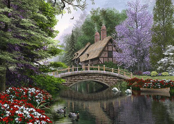 River Cottage Print by Dominic Davison