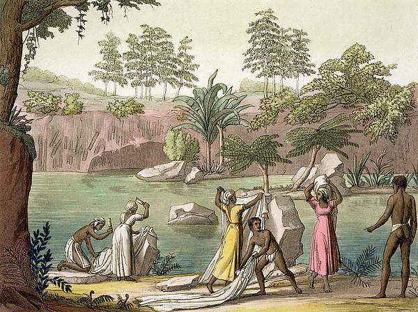 River Near San Benedetto, Madagascar Print by Gallo Gallina