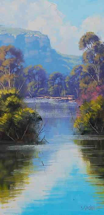 River Reflections Megalong Creek Print by Graham Gercken