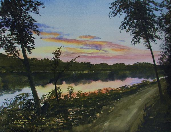 River Sunset Print by Martin Howard