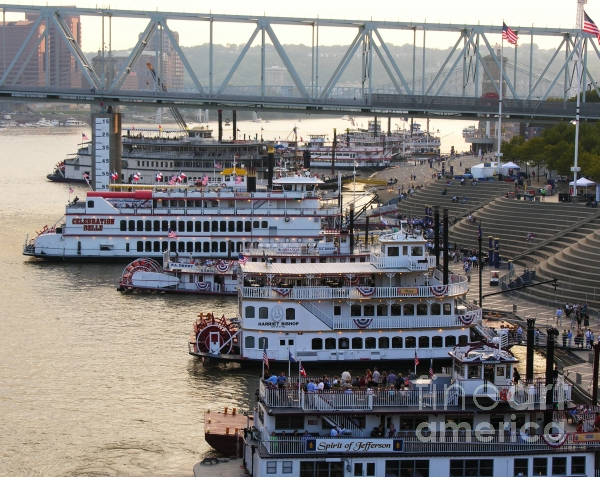 Riverboat Row Print by Mel Steinhauer