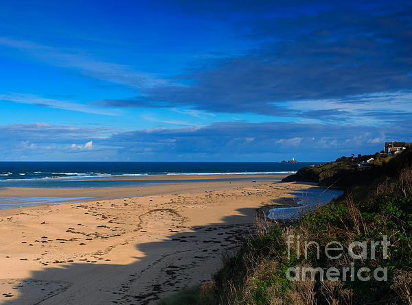 Riviere Sands Cornwall Print by Louise Heusinkveld