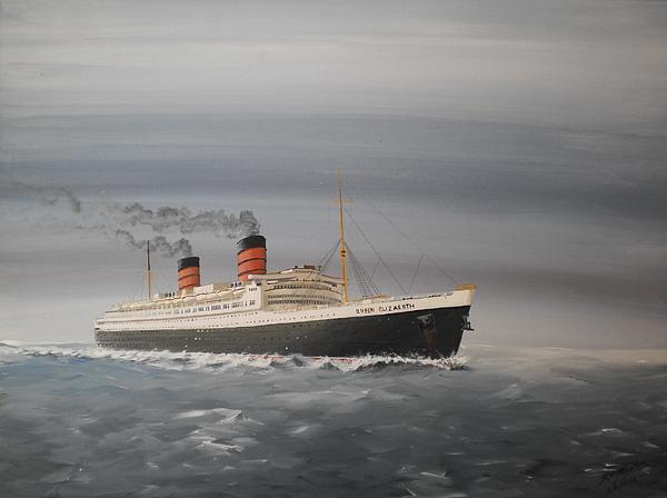 R.m.s Queen Elizabeth Print by James McGuinness