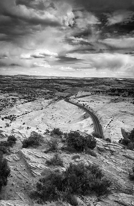 Road In The Desert Print by Andrew Soundarajan