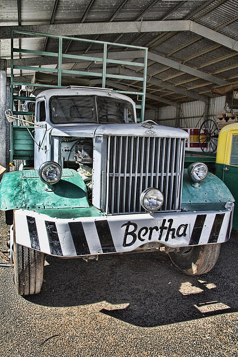 Road Train Bertha Print by Douglas Barnard