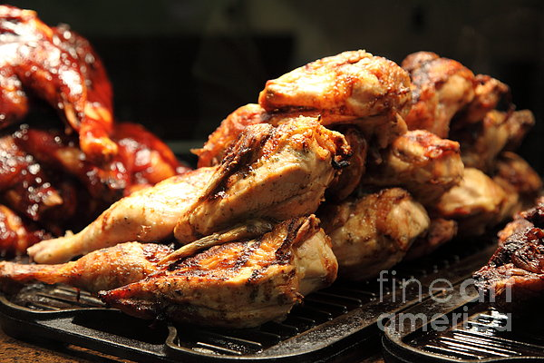 Roast Chicken - 5d20686 Print by Wingsdomain Art and Photography