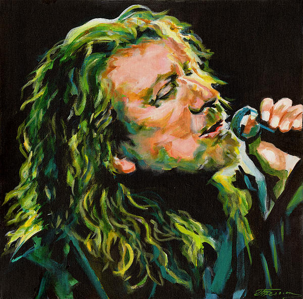 Robert Plant 40 Years Later Like Never Been Gone Print by Tanya Filichkin