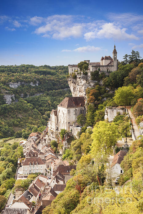 Rocamadour Midi-pyrenees France Print by Colin and Linda McKie