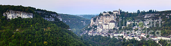 Rocamadour Midi Pyrenees France Panorama Print by Colin and Linda McKie