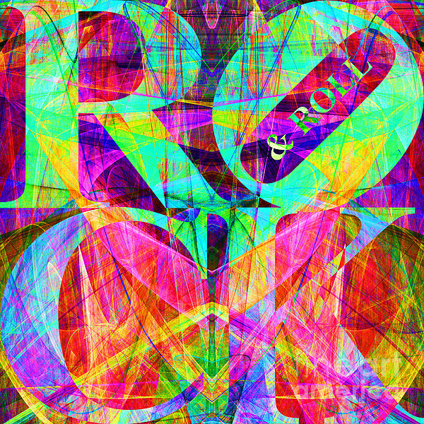 Rock And Roll 20130708 Fractal Print by Wingsdomain Art and Photography