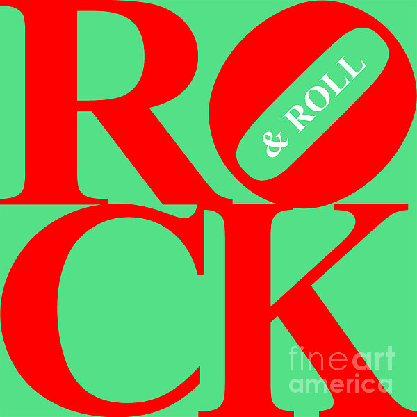 Rock And Roll 20130708 Red Green White Print by Wingsdomain Art and Photography