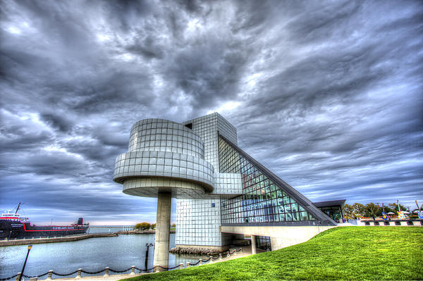 Rock And Roll Hall Of Fame Print by Shawn Everhart
