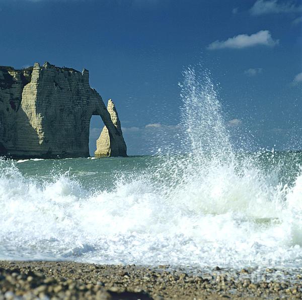 Rock Arch. Etretat. Seine-maritime. Normandy. France. Europe Print by Bernard Jaubert