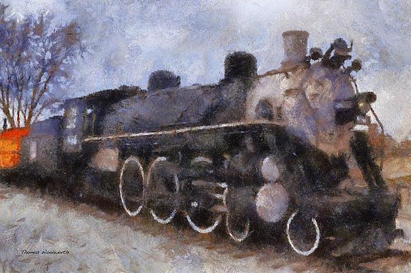 Rock Island Locomotive Engine Photo Art Print by Thomas Woolworth