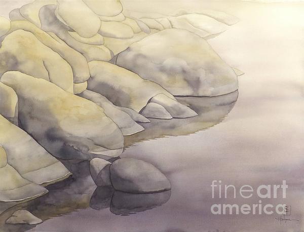 Rock Meets Water Print by Robert Hooper