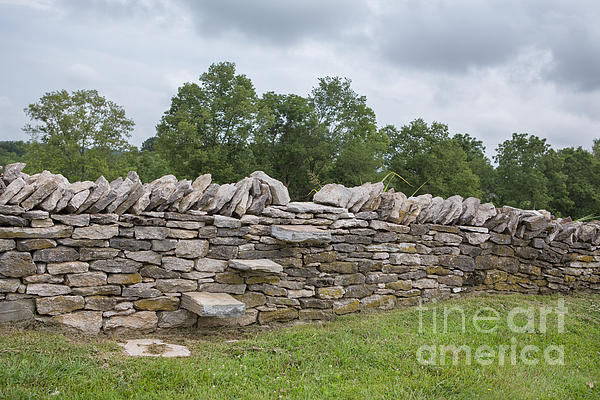 Rock Wall Steps Print by Kay Pickens