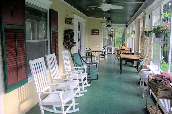 Rockers On The Porch Print by Gordon Elwell