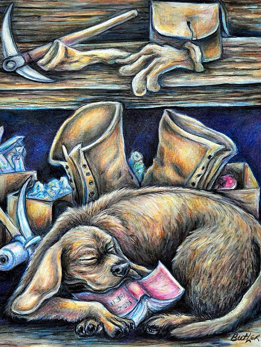 Rockhound Print by Gail Butler
