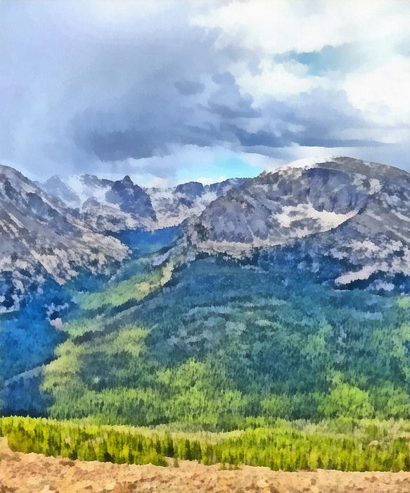 Rocky Mountain National Park Painting Print by Dan Sproul
