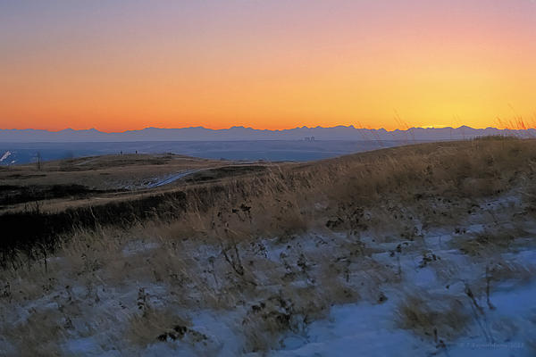 Rocky Mountain Sunset Print by Terry Reynoldson
