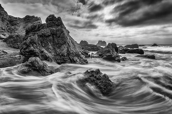 Rocky Shore Print by About Light  Images