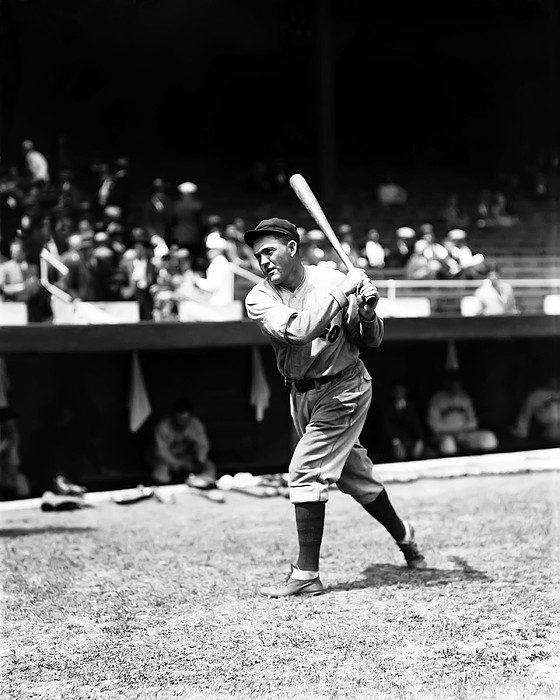 Rogers Hornsby Pre Game Swings Print by Retro Images Archive
