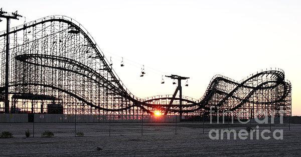 Roller Coaster Print by John Rizzuto