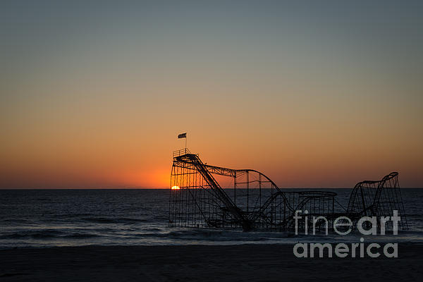 Roller Coaster Sunrise 2 Print by Michael Ver Sprill