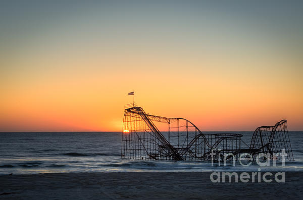 Roller Coaster Sunrise Print by Michael Ver Sprill