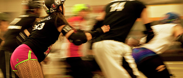 Roller Derby Print by Theresa Tahara