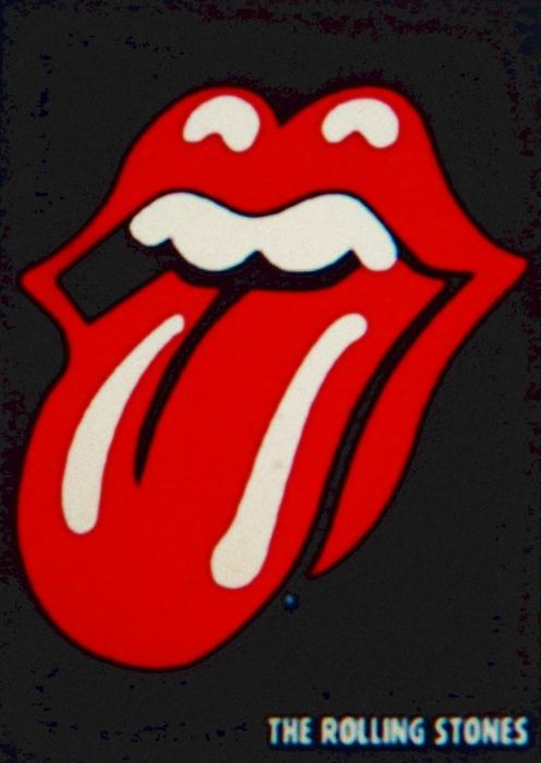 Rolling Stones Emblem Print by Gunter  Hortz