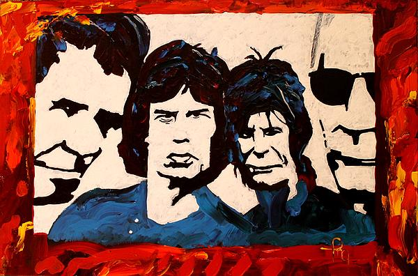 Rolling Stones Print by Michael Greeley