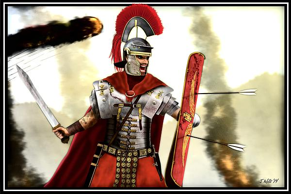 Roman Centurion Print by John Wills: fineartamerica.com/featured/roman-centurion-john-wills.html