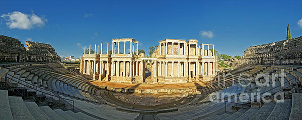 roman theatre in Merida Print by Rudi Prott